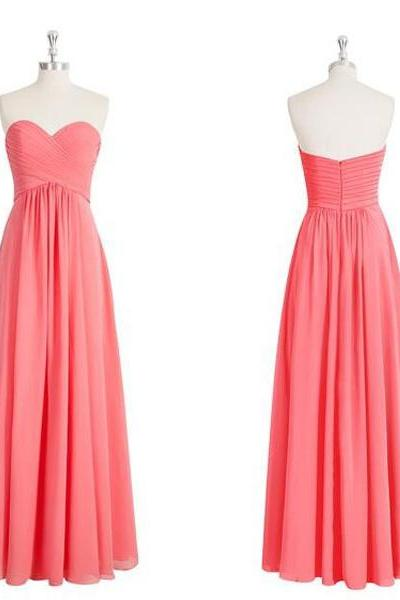 peach bridesmaid dress, Long bridesmaid dress, 2017 bridesmaid dress, custom bridesmaid dress, cheap bridesmaid dress, 15240