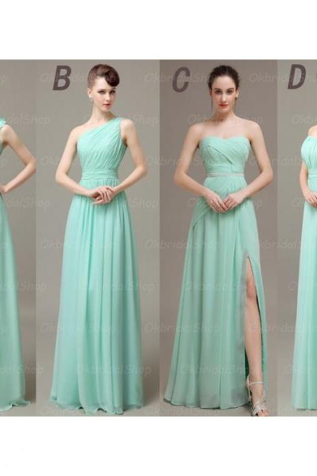 long bridesmaid dresses, mismatched bridesmaid dresses, custom bridesmaid dresses, cheap bridesmaid dresses, mint bridesmaid dresses, 15540