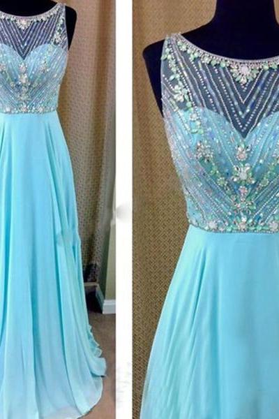 blue prom dress, beaded prom dresses, long prom dress, prom dress online, 2017 prom dress, see through prom dress, 16045
