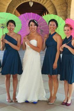 Peacock Teal Blue Convertible Bridesmaid Dresses
