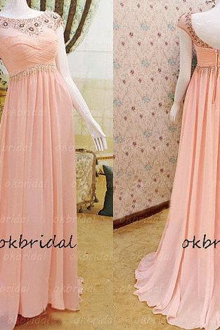 blush pink prom dress, Rhinestone prom dress, pink prom dress, 2017 prom dress, cheap prom dresses, dresses for prom, 16167