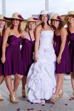 Purple Convertible Infinity Bridesmaid Dress