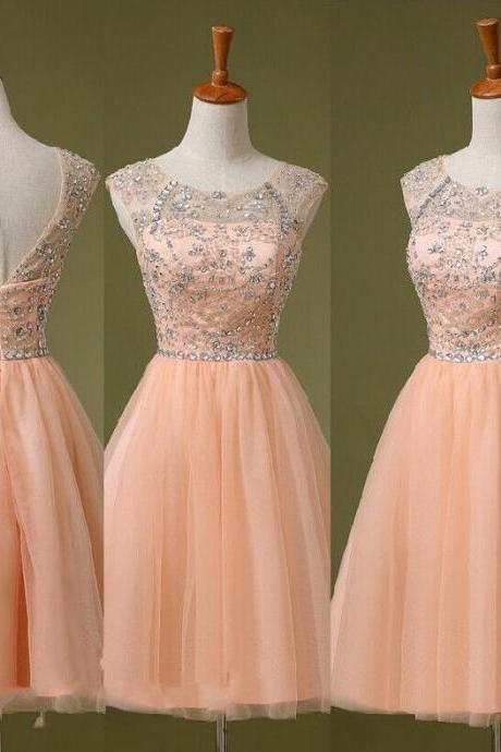Crystals Short Prom Dress Formal Dress Military Ball Gown Cocktail Dress,PD3800211