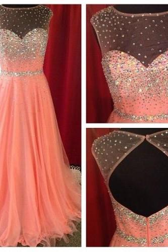 Pink Prom Dresses,Prom Dresses 2017,A-Line Prom Dresses,Wedding Dresses 2017,Long Prom Dresses,Party Dresses,Formal Dress,PD380035
