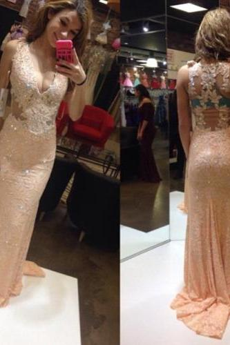 Lace prom dresses, long prom dress, Chiffon prom dress, cheap prom dress, Online prom dress, 15032004