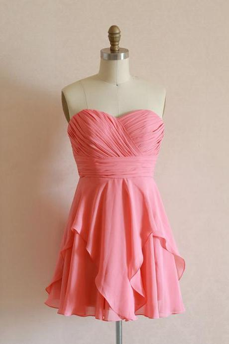 Chiffon Prom Dress, A-Line Prom Dress, Sweetheart Prom Dress, Short Homecoming Dress,15032608