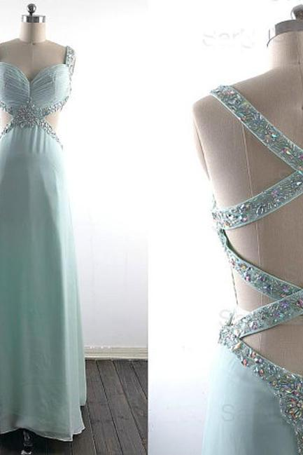 Sexy Prom Dress, Backless Prom Dress, Sweetheart Prom Dress, Chiffon Prom Dress,15032613