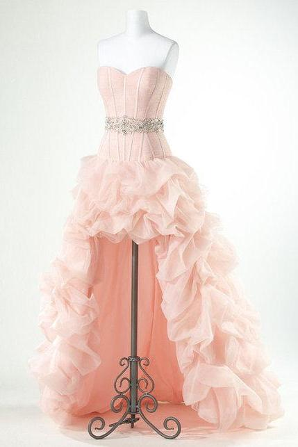 High Quality Prom Dress,Charming Prom Dress,High Low Prom Dress,Strapless Prom Dress,15032618