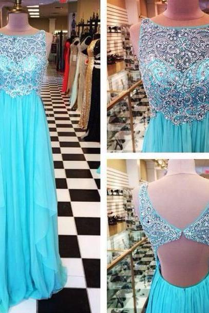 Charming Prom Dress,Beading Prom Dress,A-Line Prom Dress,Backless Prom Dress,Chiffon Prom Dress,150327025