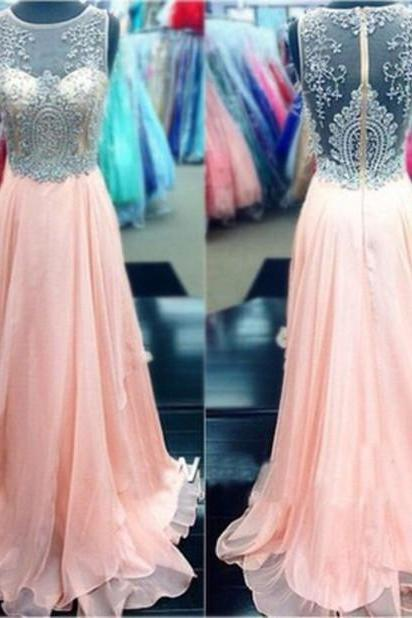 Beading Prom Dress,High Quality Prom Dress,Chiffon Prom Dress,A-Line Prom Dress,150330009