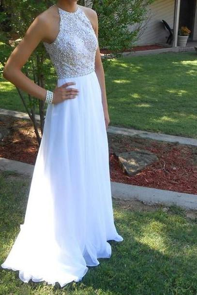 Charming Prom Dress,Chiffon Prom Dress,Beading Prom Dress,A-Line Prom Dress,Floor-Length Prom Dress,150330012