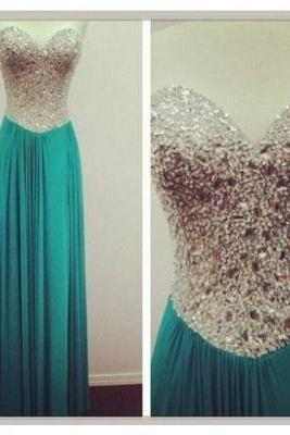 blue prom dress, long prom dress, 2017 prom dress, popular prom dress, chiffon prom dress, custom prom dress,15040621