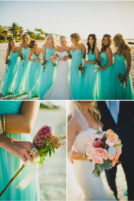 Mismatched bridesmaid dress,mint bridesmaid dress, Chiffon Bridesmaid Dresses, Long Bridesmaid Dresses, Bridesmaid Dresses, 15041702