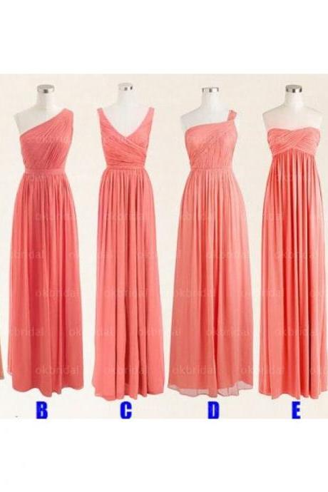 mismatched bridesmaid dresses, cheap bridesmaid dresses, chiffon bridesmaid dresses, long bridesmaid dress, chiffon bridesmaid dresses, 16506