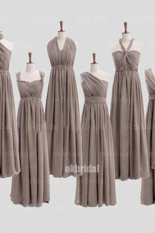 Convertible bridesmaid dresses, chiffon bridesmaid dresses, mismatched bridesmaid dress, cheap bridesmaid dresses, 16331