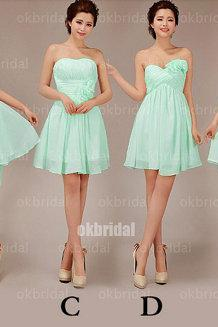 Mint bridesmaid dresses, cheap bridesmaid dresses, chiffon bridesmaid dresses,short bridesmaid dress, custom bridesmaid dresses, 16332