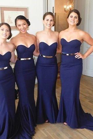 Navy Mermaid bridesmaid dresses, Sexy bridesmaid dresses, cheap bridesmaid dresses, short bridesmaid dress, affordable bridesmaid dresses, 16341