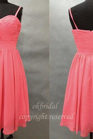 red bridesmaid dresses, short bridesmaid dresses, chiffon bridesmaid dresses, custom bridesmaid dress, cheap bridesmaid dresses, 16387