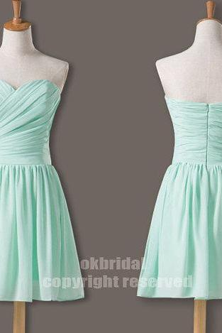 mint bridesmaid dresses, simple bridesmaid dresses, chiffon bridesmaid dresses, long bridesmaid dress, Custom bridesmaid dresses, 16388