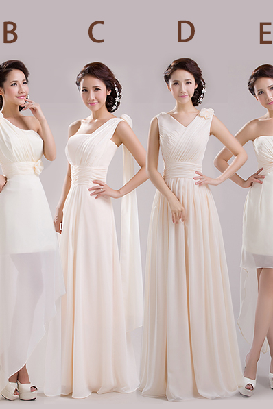 ivory bridesmaid dresses, long bridesmaid dresses, chiffon bridesmaid dresses, mismatched bridesmaid dress, cheap bridesmaid dresses,15043001