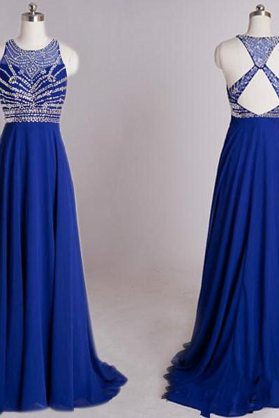 blue prom dresses,Custom prom dresses,A Line prom dresses,Round Neck Prom Dresses, Long Evening Dresses, Formal Dresses,15051321
