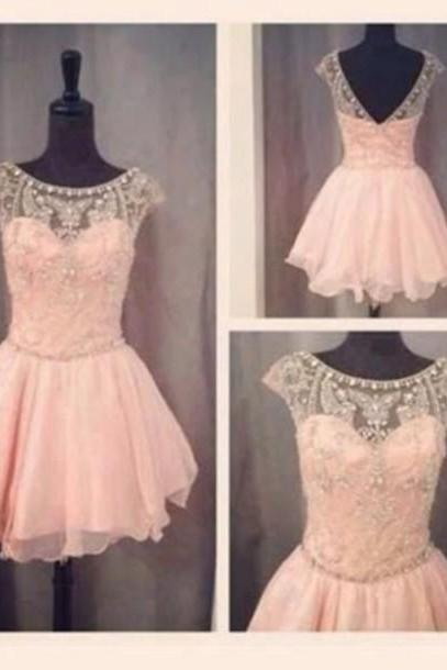 Cute prom dress,Custom prom dresses,Round Neck prom dress,Short prom dress,Pink Prom Dresses,Graduation Dresses,Homecoming Dresses,15051326