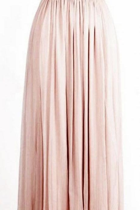 Pale Pink Bridesmaid Dresses 2017 Princess Style Glitter Sequin Chiffon Blushes Long Prom Dresses,Off the Shoulder V Neck Evening Dress,Prom Gowns