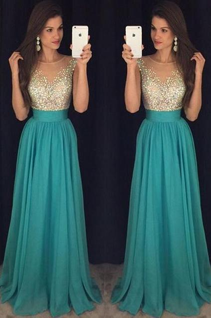 Prom Dresses,Elegant Evening Dresses,Long Formal Gowns,Beaded Party Dresses,Chiffon Pageant Formal Dress