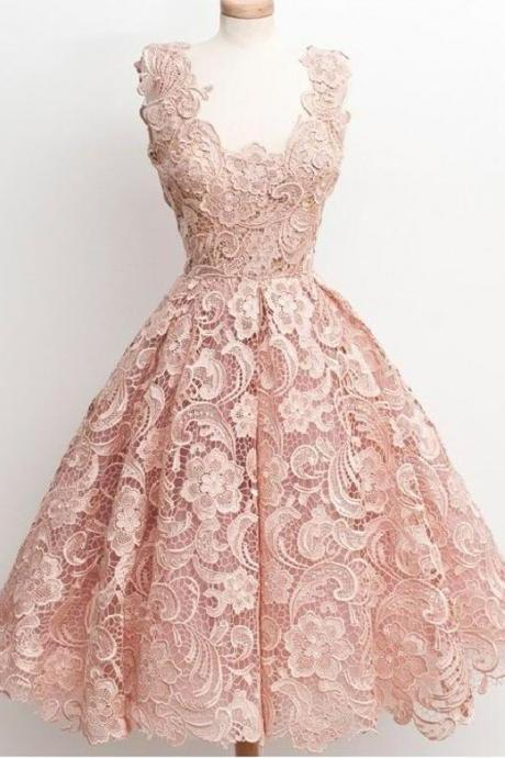 Peach lace Homecoming dress, Off shoulder homecoming dress, 2017 homecoming dress, Cute homecoming dress, affordable homecoming dress, 15414