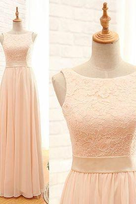 Blush pink bridesmaid dresses, lace bridesmaid dresses, chiffon bridesmaid dresses, long bridesmaid dresses, bridesmaid dresses, 16211