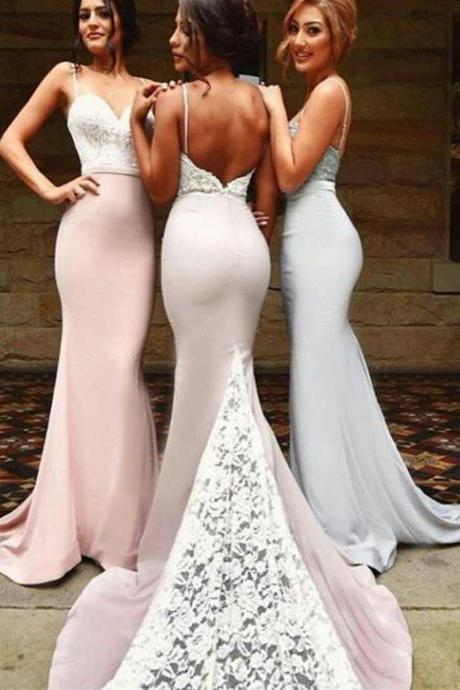 Sexy mermaid bridesmaid dresses, Lace bridesmaid dresses, Unique bridesmaid dresses, Long bridesmaid dresses, Custom bridesmaid dress, 17059