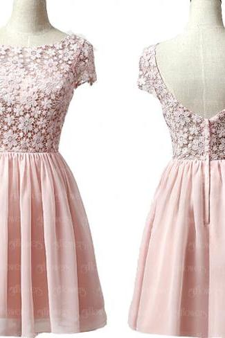 modest Homecoming dress, pink homecoming dress, lace homecoming dress, best homecoming dress, dresses for homecoming, 17603