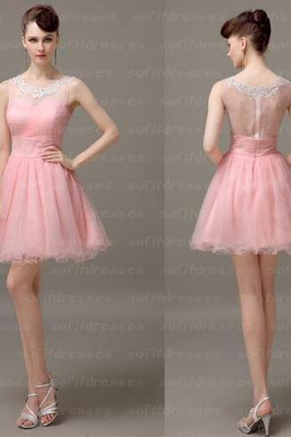 Pink Homecoming dresses, modest homecoming dresses, junior homecoming dress, cheap homecoming dress, dresses for homecoming, 17613
