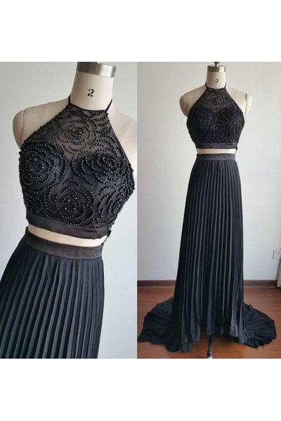 2 pieces Prom Dress,Chiffon Prom Dress ,Long Prom Dresses,Evening Dress,Evening Dresses