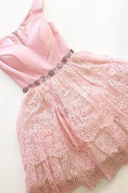 Short Pink Prom Dress Homecoming Dress,2017 Short Pink Prom Dress Homecoming Dress