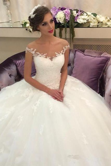 Off the shoulder White Long Bridal Gown Wedding Dress