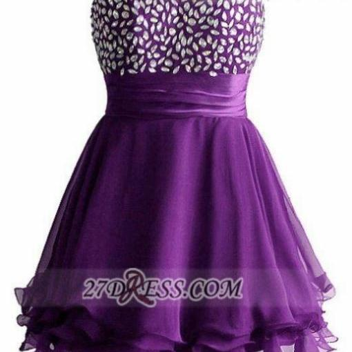 Short Homecoming Dresses Sleeveless Sweetheart Short/Mini Crystal Hot Sale Lace Up Dresses