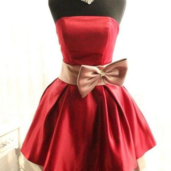 Sparkly Red Simple Handmade Short Pretty Homecoming Dresses K305