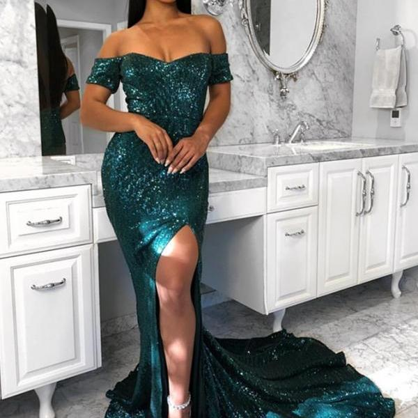 Prom Dresses Mermaid, Prom Dresses 2018, Green Evening Dress BOHO429374
