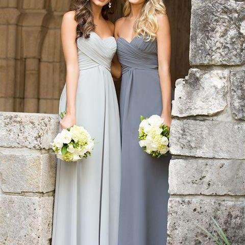 A Line Empire Waist Sweetheart Baby Blue Long Bridesmaid Dress,Dark Gray Pregnant Bridesmaid Dresses,Simple Prom Dress