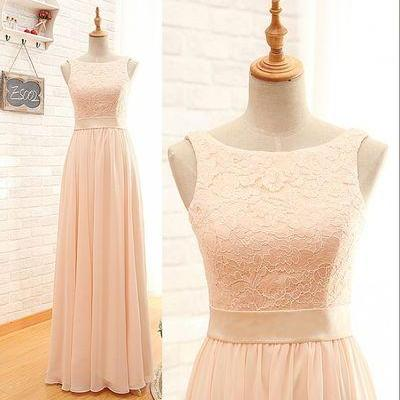A Line Blush Pink Lace Bridesmaid Dresses,High Neck Chiffon Bridesmaid Dresses,Cheap Long Bridesmaid Dress,Off the Shoulder Bridesmaid Gowns