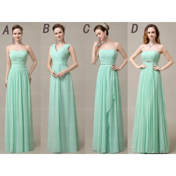 long bridesmaid dresses, mismatched bridesmaid dresses, custom bridesmaid dresses, cheap bridesmaid dresses, mint bridesmaid dresses, 16412