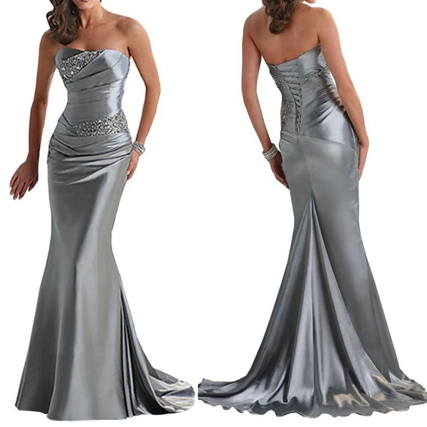 Mermaid prom dresses, grey prom dress, sexy prom dresses, prom dresses 2017, long prom dresses,16117