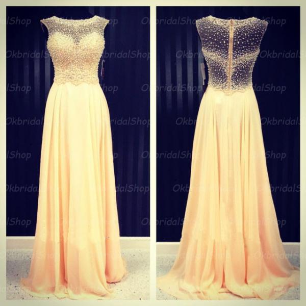 see through prom dresses, champagne prom dress, chiffon prom dress, dresses for prom, 2017 prom dress, 16220
