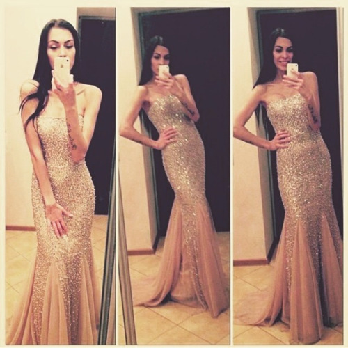 Sexy prom dresses, Peach prom dress, chiffon prom dress, Mermaid prom dress, prom dress 2017, Online prom dress, Long prom dress, 15032318