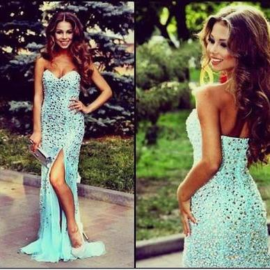 blue prom dress, long prom dress, prom dress 2017, affordable prom dress, custom prom dresses, sweetheart prom dress,15040608