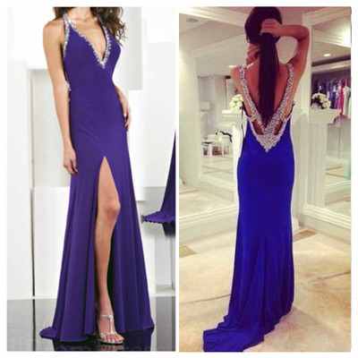 blue prom dress, long prom dress, 2017 prom dress, sexy prom dress, custom prom dress,15040719