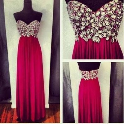 hot pink prom dress, long prom dress, sweetheart prom dress, dresses for prom, 2017 prom dresses,15040721