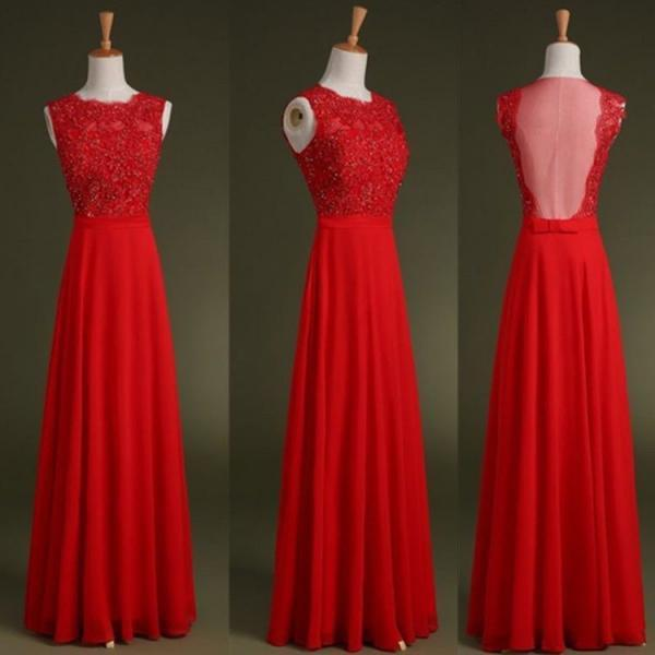 Red prom dress,Custom Made prom dresses,A Line prom dress,Round Neck prom dress,Floor Length prom dresses,Lace Prom Dresses,evening dress,15051316