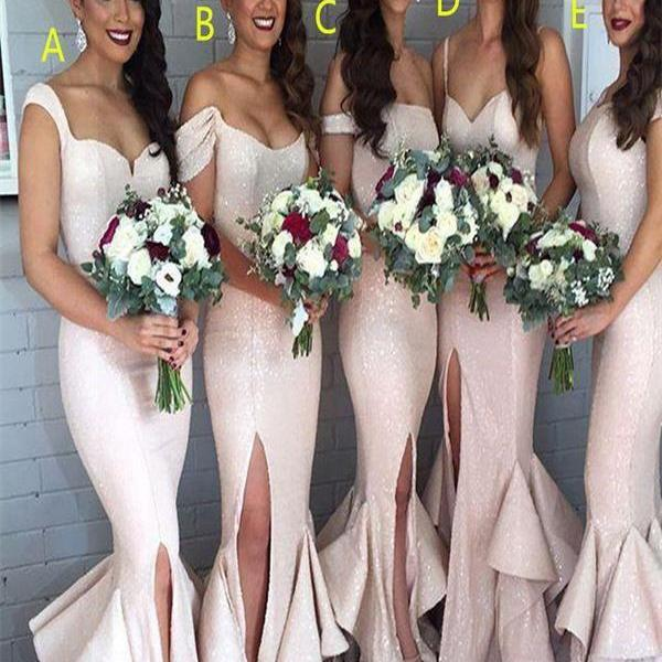 Sequin Mermaid bridesmaid dresses, Long bridesmaid dresses, sparkly bridesmaid dresses, Custom bridesmaid dress, cheap bridesmaid dresses, 17122